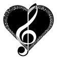 music music heart abstraction vector image vector image