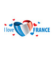 national flag france and the vector image
