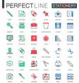 office stationery modern flat line design vector image vector image