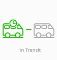 order delivery logistics web shop line icon vector image
