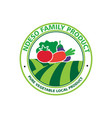 organic vegetables logo vector image vector image