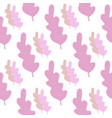pink leaves seamless pattern in pastel colors vector image vector image