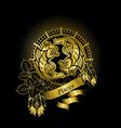 pisces zodiac sign vector image