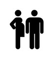 pregnant woman and man couple icon vector image vector image