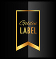 premium golden ribbon label design vector image