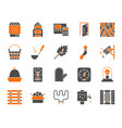 sauna equipment simple color flat icons set vector image