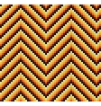 Seamless 60s Retro Zigzag Pattern Warm vector image vector image