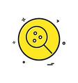 search lab basic icon design vector image
