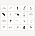 set hand drawn doodle web icons line art vector image vector image