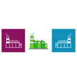 set modern factory icons in different colors vector image