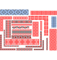 set patterns for embroidery stitch vector image vector image