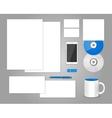 set templates corporate identity vector image