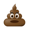 shit icon angry faces poop emoticon vector image vector image