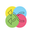 shuffling icon vector image