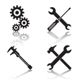Tools icon collection vector image vector image