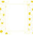 white cosmos flower banner card border vector image