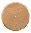 wooden board in round shape isolated on white vector image vector image