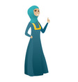 young muslim business woman giving thumb up vector image