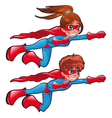 Young superheroes vector image vector image