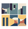 abstract architecture background with geometric vector image