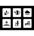agriculture six icons vector image vector image