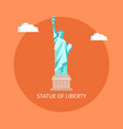 american enormous statue of liberty on cubic stand vector image vector image