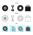 auto and part logo set of vector image