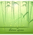 Bamboo Groove vector image vector image
