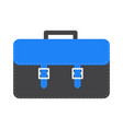 big black and blue schoolbag briefcase icon vector image vector image