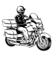 Biker isolated on white vector image vector image