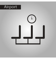 black and white style icon airport waiting room vector image vector image