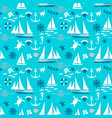 blue nautical seamless pattern vector image vector image