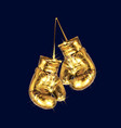 boxing glove golden design vector image
