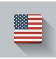 button with flag usa vector image