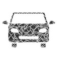 car mosaic of triangles vector image vector image