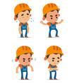 cartoon builders vector image