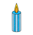 celebration candle isolated icon vector image
