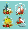 Christmas Hand Drawn Compositions vector image vector image