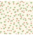Colorful hearts seamless pattern beige background vector image vector image