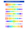 colorful sound waves vector image vector image
