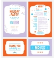 Colorful Winter Holiday Party Invitation vector image vector image
