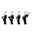 comic character professional waiter vector image