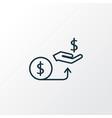 compensation icon line symbol premium quality vector image