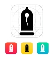 Condom with Spermatozoid icon vector image vector image