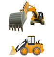 Construction machines on white background vector image