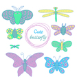 cute butterfly vector image
