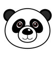 cute panda cute animal faces vector image vector image