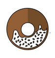 delicious sweet donut icon vector image vector image