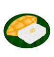 Delicious Sweet Sticky Rice with Ripe Mango vector image vector image