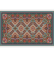 Design ethnic rug in bright colors vector image